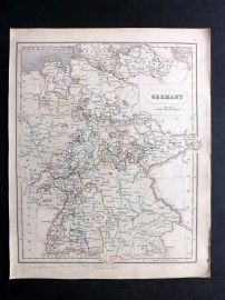 Chambers 1846 Antique Map. Germany
